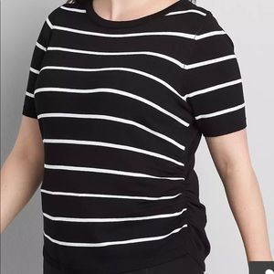 Striped Ruched Side Pullover Sweater 18/20 & 20/22
